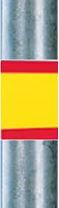 rot geld roter Folienaufkleber Haltestange Zeichen224
